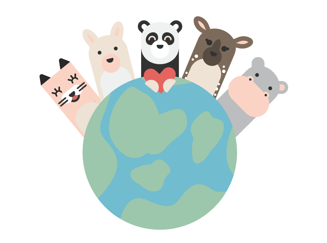 HEI buddies globe