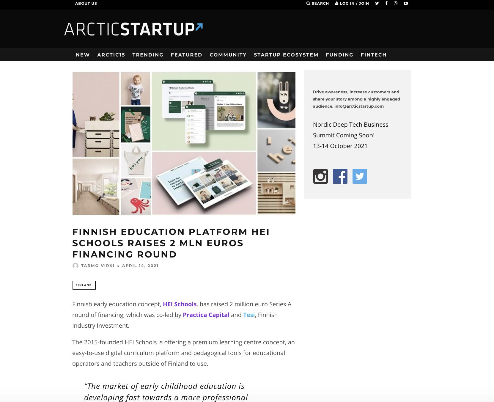 Arctic Startup April 2021