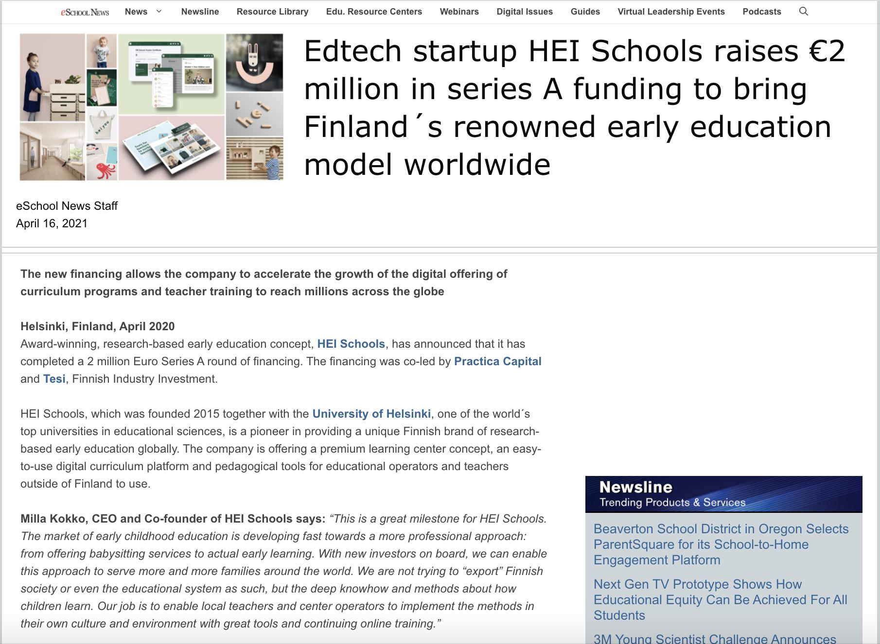 EschoolNews Article April 2020