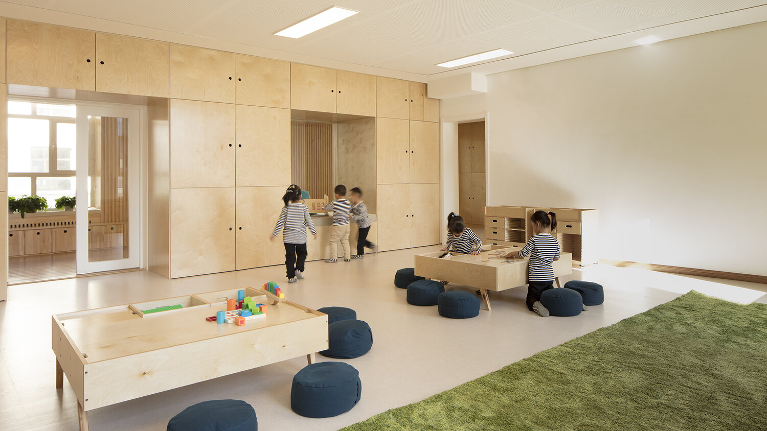 A typical HEI Schools classroom with children playing