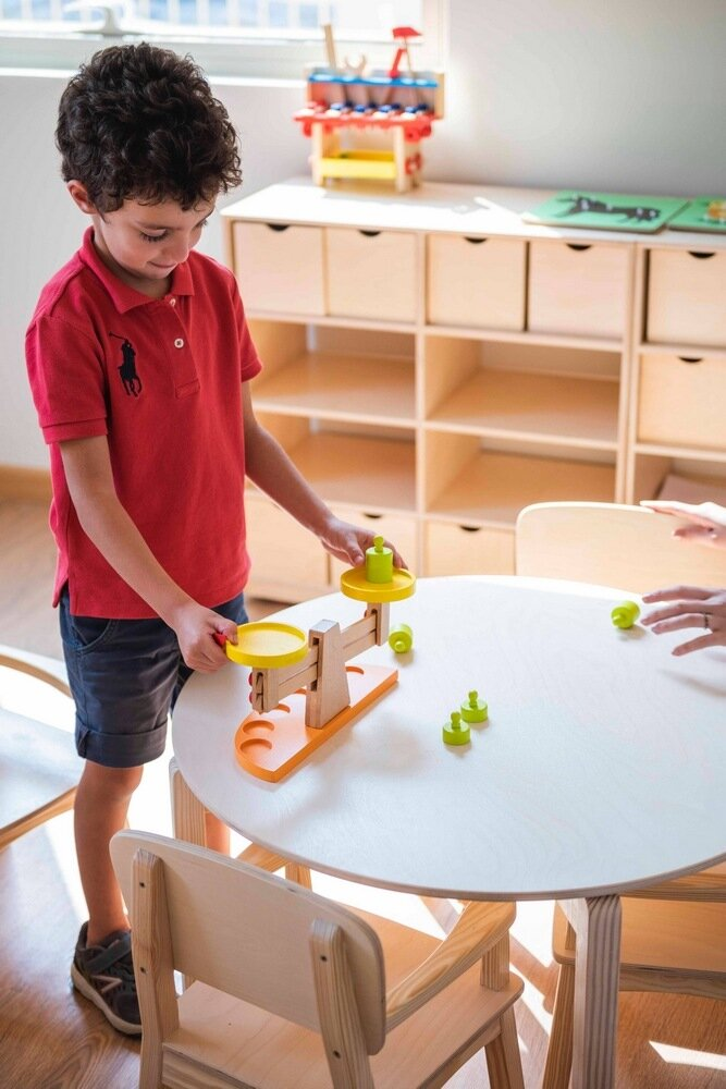 HEI Schools New Cairo accommodates children from babies to six years old. The spaces have been designed to enhance creativity for different age groups.