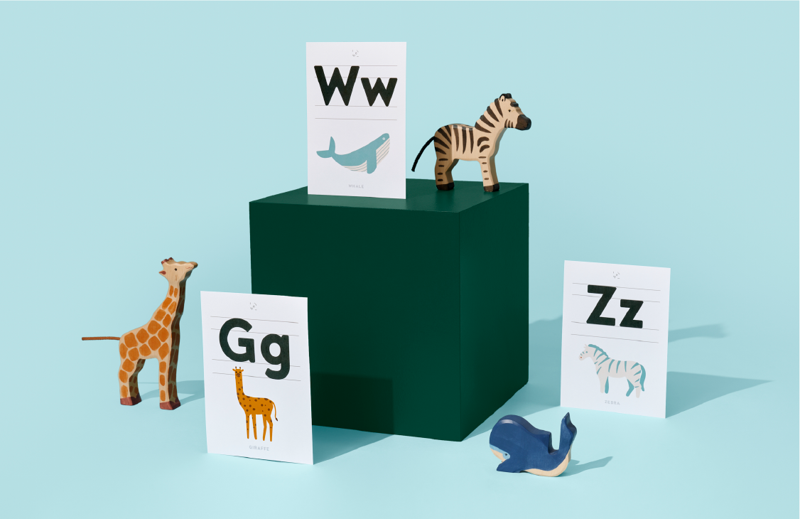Products HEI collection alphabets animals 540x350